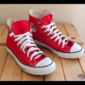 Red Converse Chuck Taylor Unisex High Top Sneaker